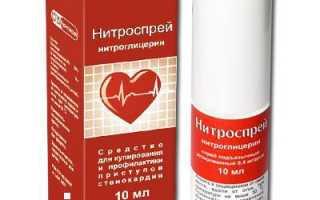 Нитроспрей – показания к применению, инструкция и рекомендации, фармакологическое действие