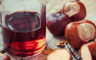 Настойка из каштана для суставов – рецепт на водке, есть ли эффективность при лечении